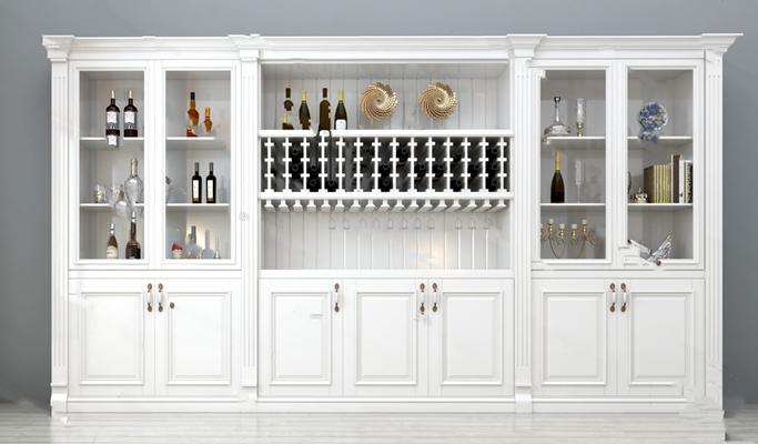 欧式酒柜3D模型【ID:924879057】