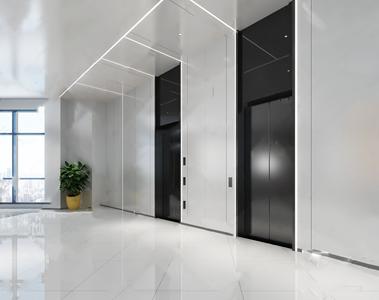 现代电梯厅3D模型【ID:932395247】