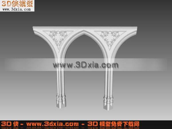 精美的欧式柱子3D模型【ID:5443】