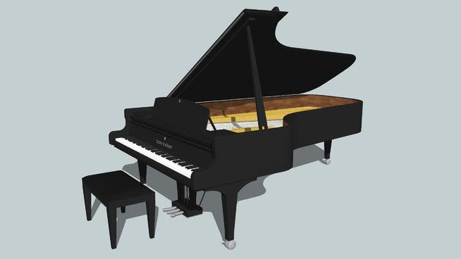 Eichler和威斯勒的大钢琴SU模型【ID:939759164】