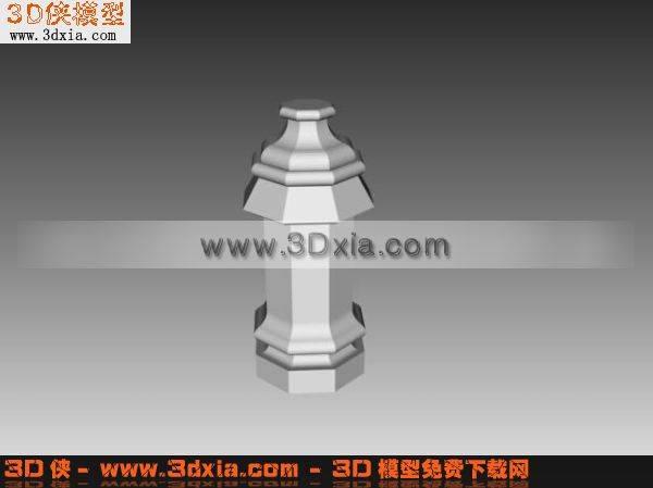小柱子3D模型【ID:5492】
