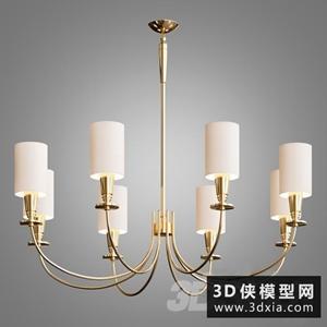欧式金属吊燈国外3D模型【ID:829319729】