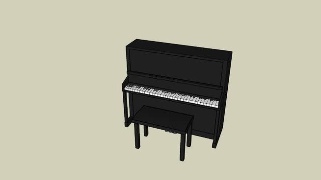 钢琴SU模型【ID:437925792】