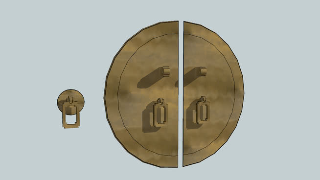 黃銅五金SU模型【ID:939764262】