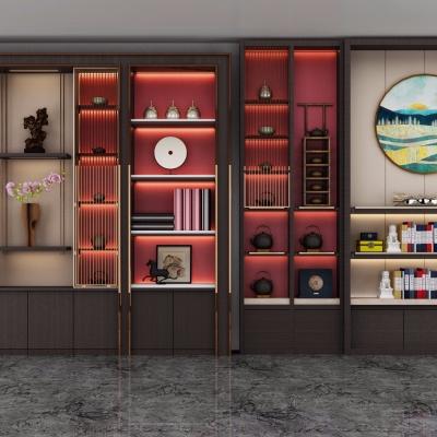 新中式實木裝飾柜3D模型【ID:928561244】