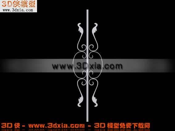 3D别致的铁艺模型下载3D模型【ID:5568】