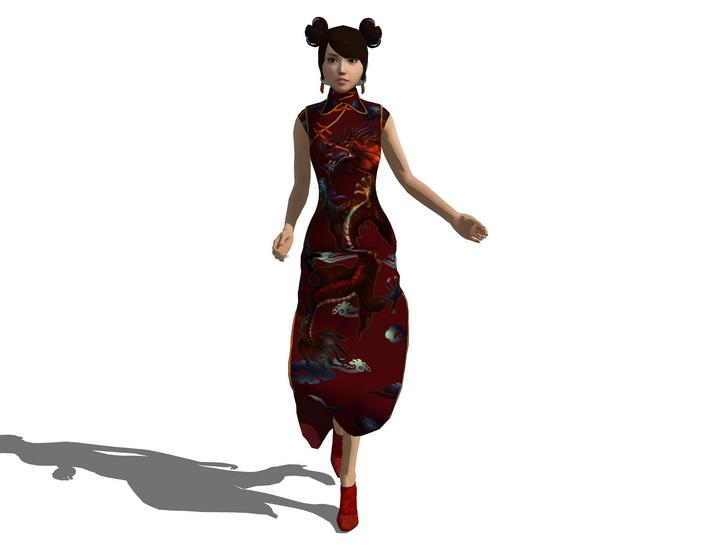 3D女人物SU模型【ID:136386715】