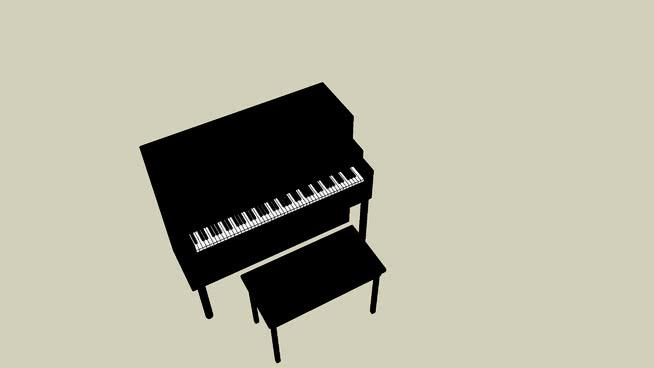 钢琴SU模型【ID:939766195】