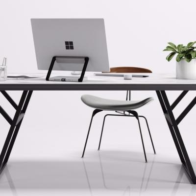 北歐辦公桌椅3D模型【ID:628458640】