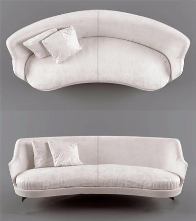 北歐雙人沙發3D模型【ID:928344702】