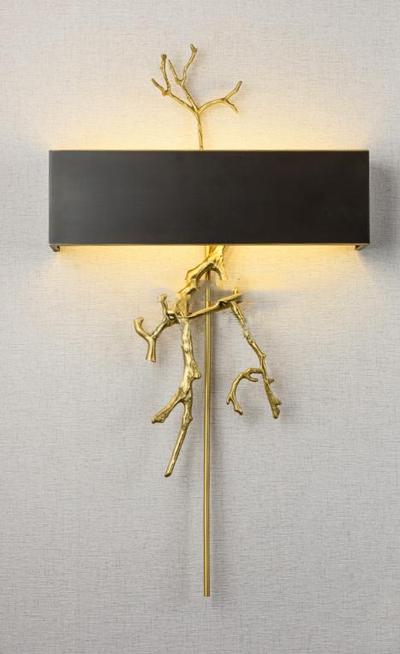 现代金属树技造型壁灯3D模型【ID:56854899】