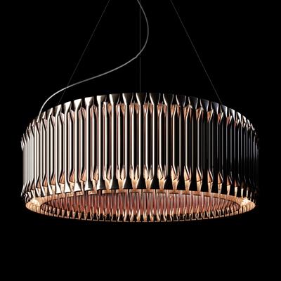 现代金属圆形吊灯3D模型【ID:56867987】