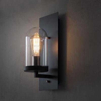 现代简约铁艺玻璃壁灯3D模型【ID:56874998】