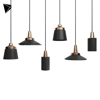 现代金属小吊灯组合3D模型【ID:56886686】