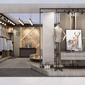现代服装店3D模型【ID:120796777】