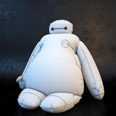 现代儿童大白公仔抱枕大白3D模型【ID:56986076】