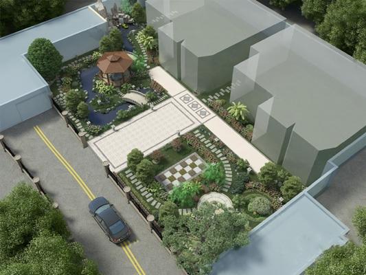 现代园林景观3D模型