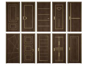 后现代实木单开门组合3D模型【ID:727809584】