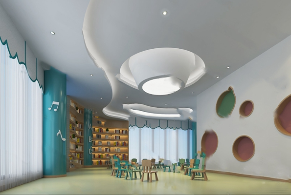 现代幼儿园3D模型【ID:124895659】