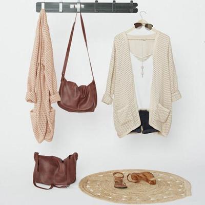 现代针织衫单肩包组合3D模型【ID:57006017】