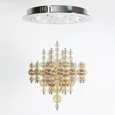 现代玻璃球吊灯3D模型【ID:57008588】