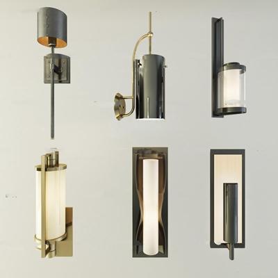 现代金属壁灯组合3D模型【ID:57050495】