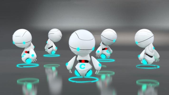 现代超萌机器人组合3d模型【ID:57066077】