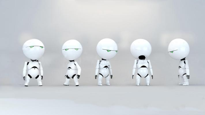 现代机器人组合3d模型【ID:57067273】