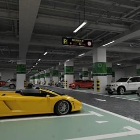 停车场3D模型【ID:57087199】