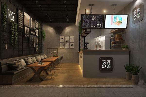 奶茶店3D模型【ID:57096244】