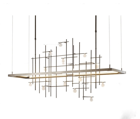 现代金属装饰吊灯3D模型【ID:57134681】