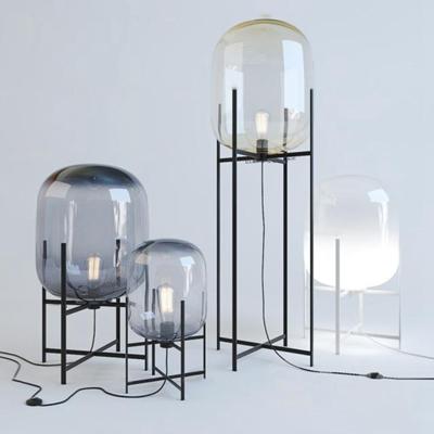 现代玻璃摆设落地灯3D模型【ID:619741257】
