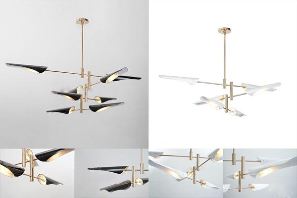 现代金属吊灯3D模型下载【ID:57139585】