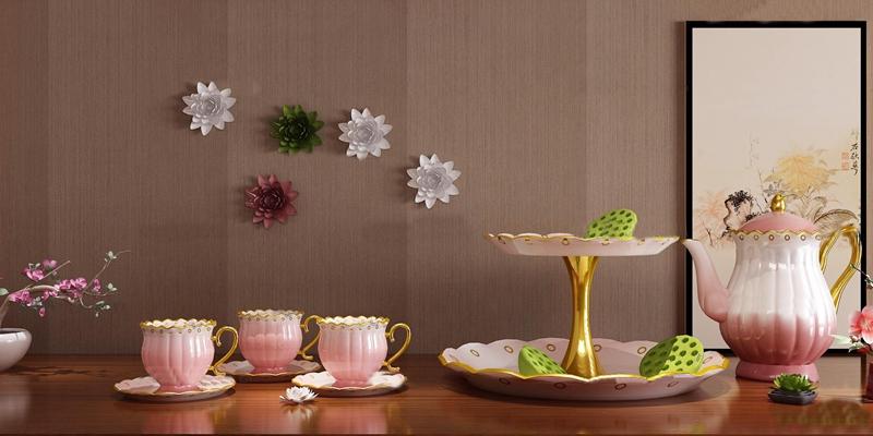 欧式陶瓷茶具组合3D模型【ID:57146808】