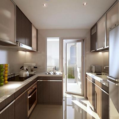 现代厨房厨柜3D模型【ID:57147601】