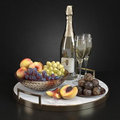 现代香槟水果3D模型下载【ID:57147905】