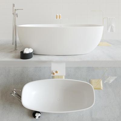 现代单体浴缸3D模型【ID:57148345】