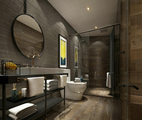 新中式卫浴空间3D模型【ID:57148446】