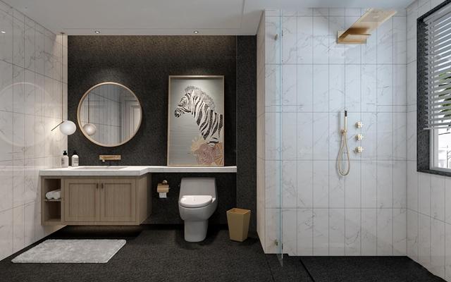 现代卫浴空间3D模型【ID:57148646】