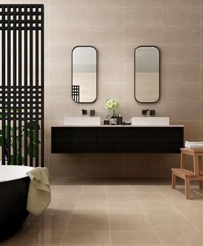 现代台盆镜子浴缸组合3D模型【ID:57148842】