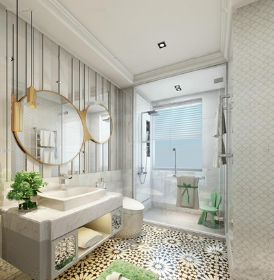 现代卫浴空间3D模型【ID:57149341】