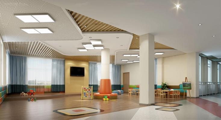 现代幼儿园活动区3D模型【ID:57157243】