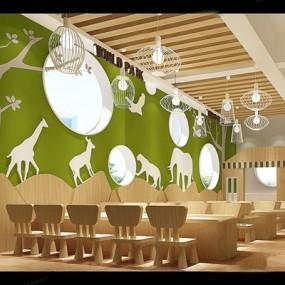 动物雕刻版艺术吊灯儿童幼儿园桌椅组合365彩票【ID:57157741】