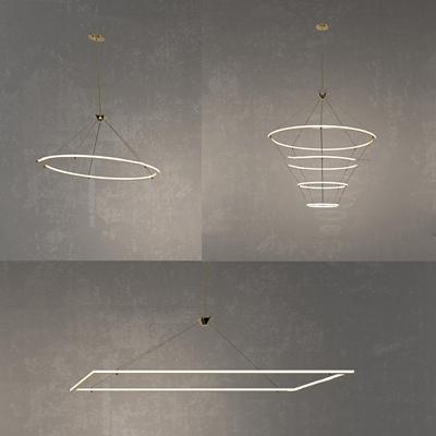 现代简约吊灯组合3D模型【ID:519705863】