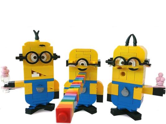 现代乐高小黄人积木玩具3D模型【ID:57173777】