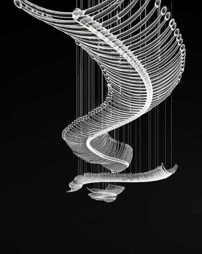 现代水晶吊灯3D模型【ID:57187480】
