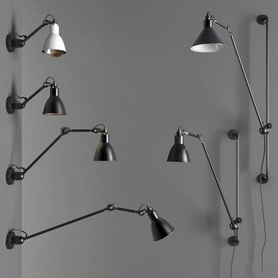 工业风金属壁灯组合3D模型【ID:57200296】