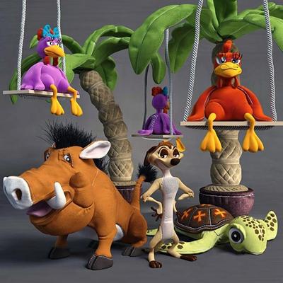 现代乌龟椰树儿童玩具组合3D模型【ID:57200779】