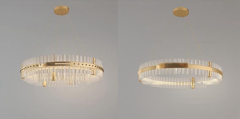 现代水晶吊灯3d模型【ID:57209486】