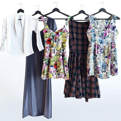 现代裙子服饰组合3D模型【ID:57223519】